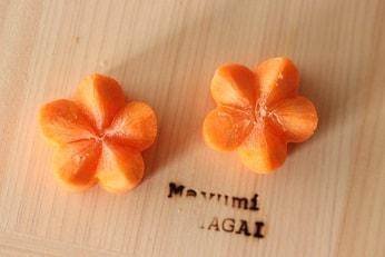 人参の福良梅の飾り切りレシピ|料理研究家の料理教室 熊谷真由美のラクレムデクレム