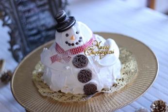 スノーマン3Dショートケーキ|千葉県浦安市のお菓子教室 熊谷真由美のラクレムデクレム