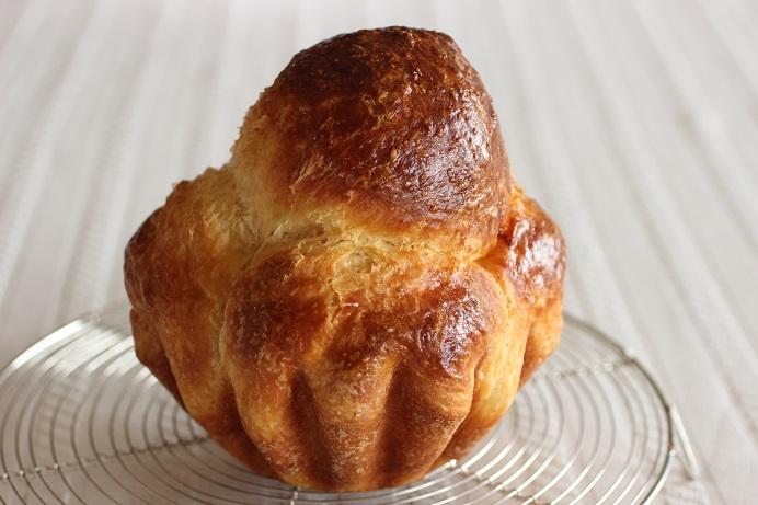 こねないパンの天然酵母のブリオッシュ