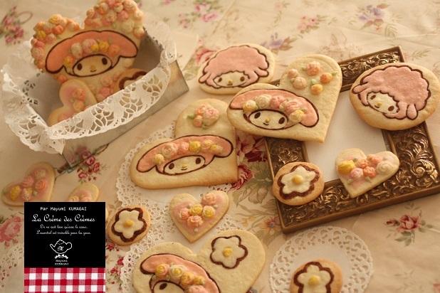 マイメロディの手作りプリントしたみたいなクッキー