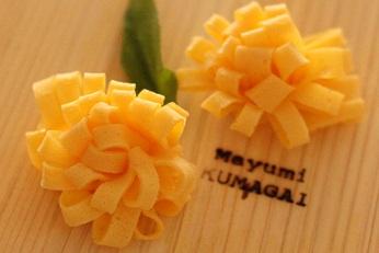 飾り切り 卵 菊|東京ベイ千葉県浦安市の料理教室 熊谷真由美のラクレムデクレム