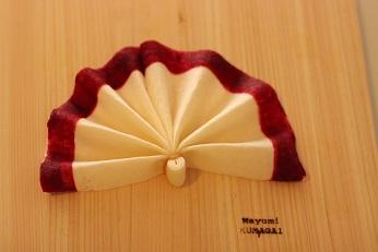 飾り切り 扇 春巻きの皮|東京ベイ千葉県浦安市の料理教室 熊谷真由美のラクレムデクレム