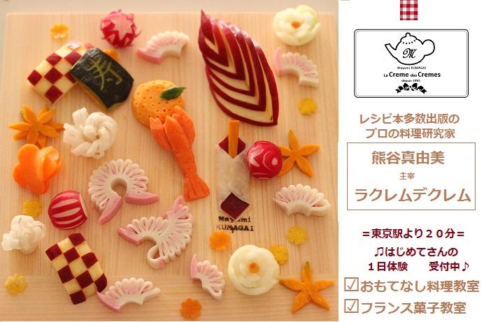 飾り切り|東京ベイ千葉県浦安市の料理教室 熊谷真由美のラクレムデクレム