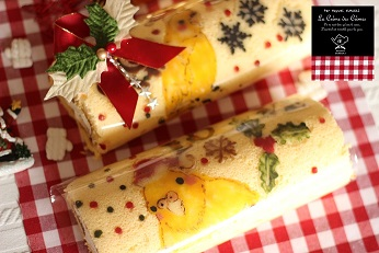 お菓子教室|千葉県 キャラデコロールケーキ レシピ