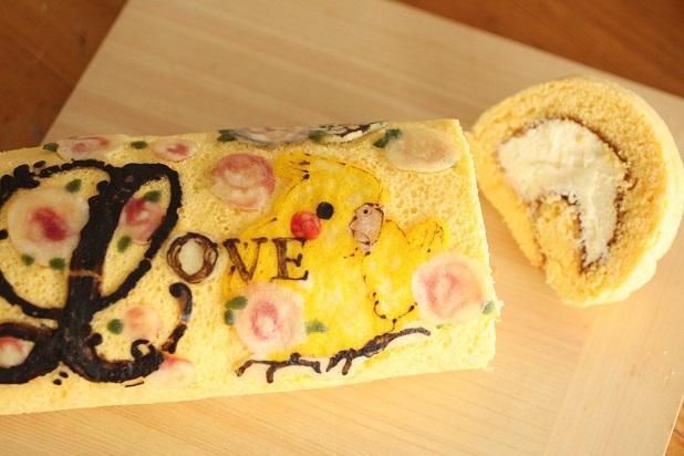 フランス菓子研究家のデコロールケーキ