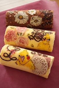 お菓子教室|千葉県キャラ デコロールケーキ レシピ