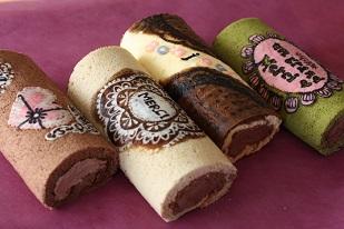 お菓子教室|千葉県 繊細デコロールケーキ 図案