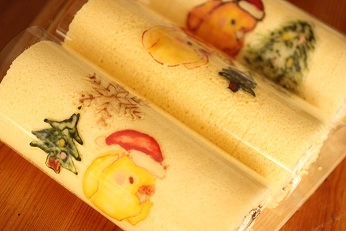 お菓子教室|熊谷真由美キャラ デコロールケーキ