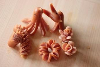 ウインナーの飾り切り|千葉県浦安市の料理教室 熊谷真由美のラクレムデクレム