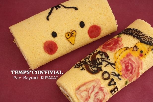 お菓子教室|千葉県 ばらキャラデコロールケーキ