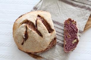 刻印カンパーニュ|こねない天然酵母パン||千葉県浦安市の料理教室 熊谷真由美のラクレムデクレム