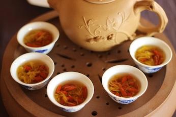 工夫茶器で薬膳茶
