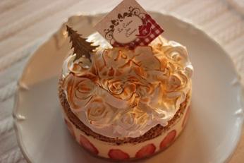 薔薇の苺のフレジエ|千葉県浦安市のお菓子教室 熊谷真由美のラクレムデクレム