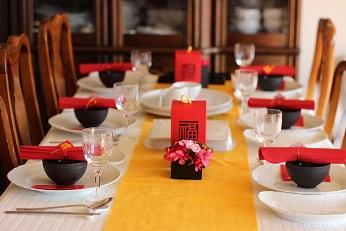 お客様をお迎えする中華料理のテーブルコーディネイト