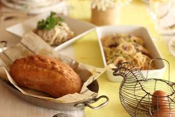 鶏肉のパンの包み焼き