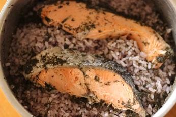 鮭の粕漬け炊き込みごはん