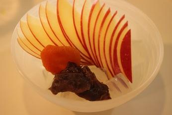 おしゃれなみつまめの盛り付け。|千葉県浦安市の料理教室 熊谷真由美のラクレムデクレム