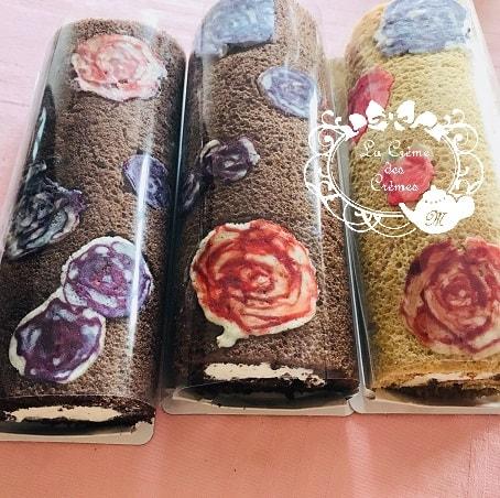 |千葉県1薔薇の繊細 デコロールケーキお菓子教室
