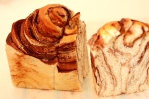 チョコレートシートを使わないマーブル食パンのレシピ
