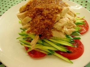 簡単!絶品❤胡麻ダレの基本の♪バンバンジー♪棒々鶏 レシピ・作り方