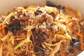 韓国宮廷料理のチャプチェ