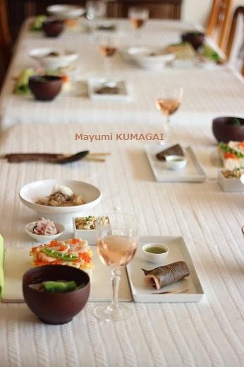 ひな祭りのちらし寿司でおもてなしのテーブル