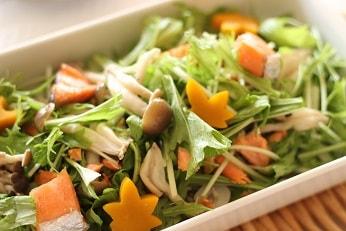 秋の秋鮭ときのこサラダ