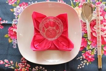 中華のキッチュなテーブルコーディネイト