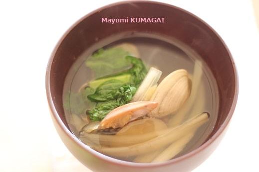 お雛様・ひな祭りの定番、蛤の潮汁
