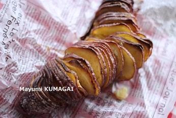 サツマイモのハッセルバック ポテト!