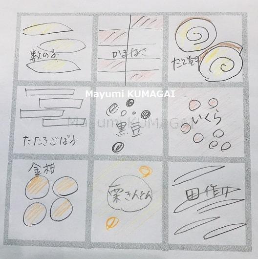 おせち料理三段重につめたおせち 千葉県浦安市の料理教室 熊谷真由美のラクレムデクレム