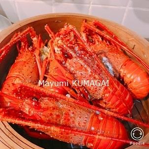 おせち料理三段重につめるボイルしたての伊勢海老|千葉県浦安市の料理教室 熊谷真由美のラクレムデクレム