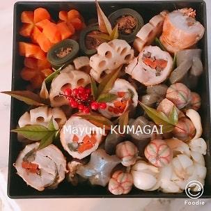 おせち料理三段重につめたおせち|千葉県浦安市の料理教室 熊谷真由美のラクレムデクレム