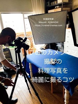 プロのカメラマンさんに撮影してもらっているカメラ機材セット