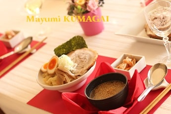担担麺の魚介だしのつけ麺|おもてなし料理教室  料理研究家 熊谷真由美のラクレムデクレム