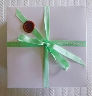 15cmφのケーキをいれる白い箱