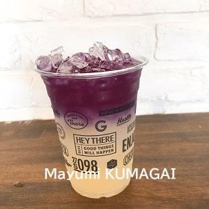 バターフライピーの紫色のレモネード