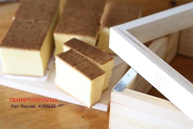 おうちで木枠で本格的につくるカステラ