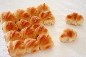 こねないパンのちぎりパン