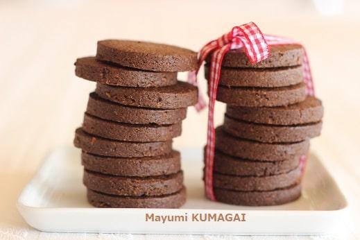 ココアとアーモンドパウダーでつくるフランス風チョコレートクッキー Chocolate Cookies