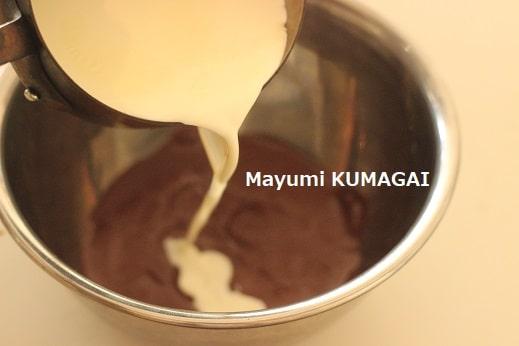 方 チョコレート 溶かし