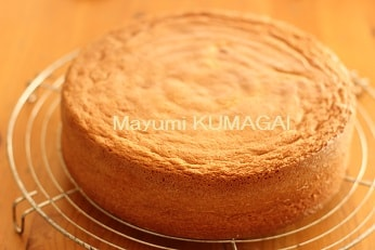 ショートケーキのスポンジを焼く|お菓子教室