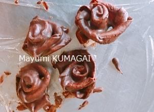薔薇チョコ、ケーキの飾り