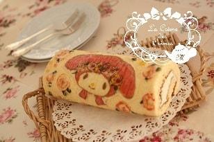 夏休みの子供お菓子教室のキャラクターケーキ