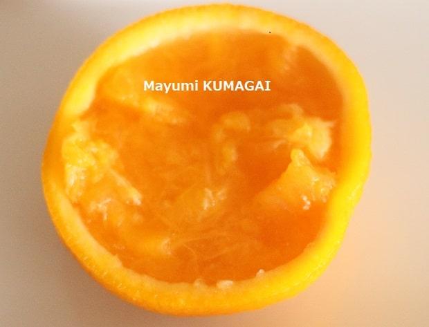 オレンジ果肉たっぷりオレンジゼリー