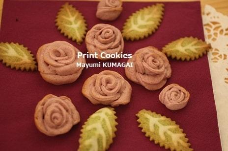 薔薇の立体クッキー
