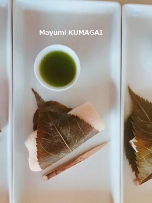 おもてなし料理教室で焼いた関東風桜餅