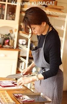 フランス菓子教室パートドフリュイをつくる生徒さん実習風景|千葉県浦安市ケーキ教室