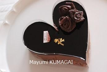 薔薇のチョコレート菓子