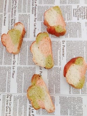編み込みパン、ツオップ6本編み断面
